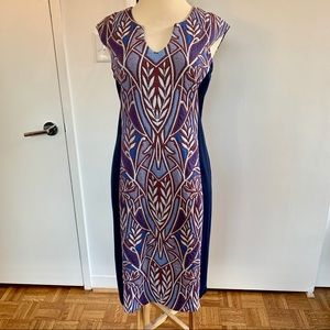 Anthropologie HD Paris Blue Motif Sleeveless Dress